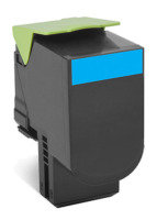 Lexmark 702HCE Cyan High Yield Toner Cartridge