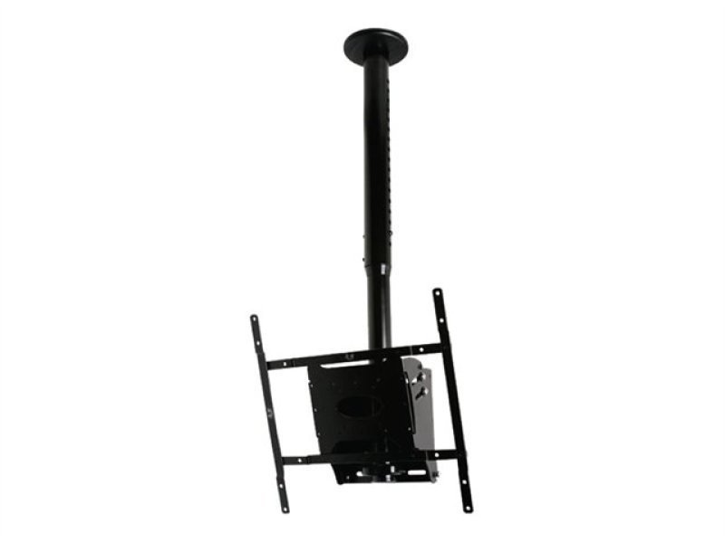 "Image of Adjustable Drop Flat Screen Ceiling Mount With Tilt 21"" - 42"""