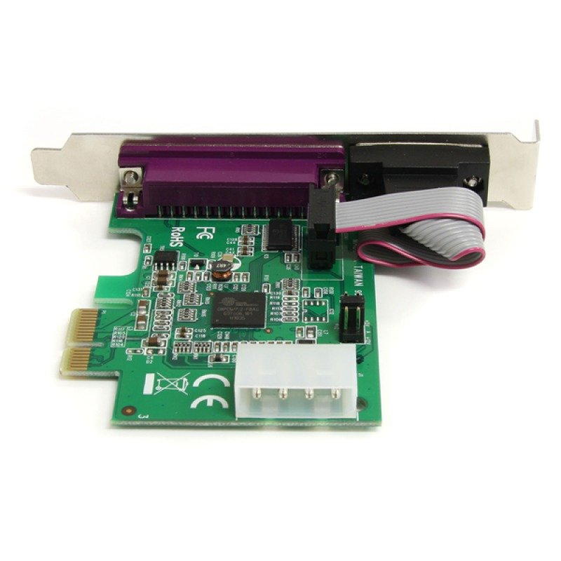 StarTech.com 1S1P Native PCI Express Parallel Serial Combo Card with 16950 UART