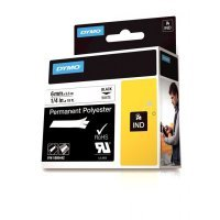 DYMO Rhino Permanent Adhesive Polyester Tape - Black on White
