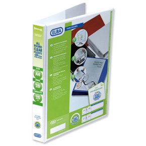 Elba Panorama Presentation Binder A4 2D-Ring 25mm White