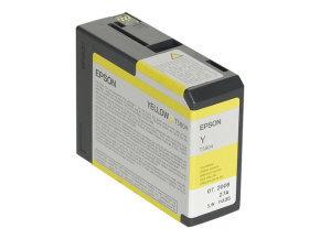 Epson T5804 80ml Yellow Ink Cartridge
