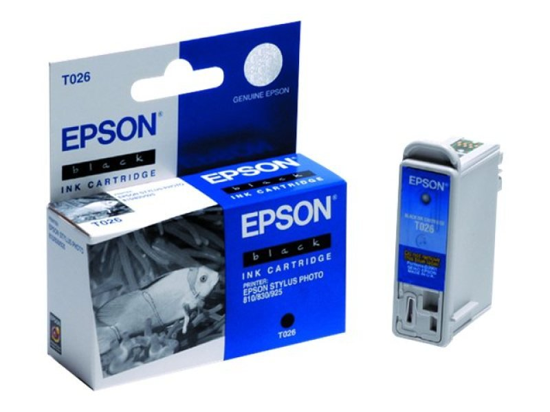 Epson T026 16ml Black Ink Cartridge 540 Pages