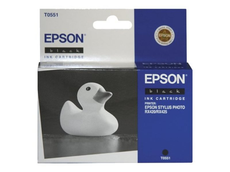 Epson T0551 8ml Black Ink Cartridge 290 Pages