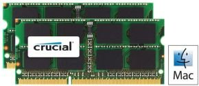 Crucial 16GB DDR3 1333MT/s Laptop Memory for Mac