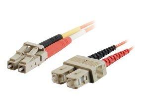 C2G, LC/SC LSZH Duplex 50/125 Multimode Fibre Patch Cable, 1m