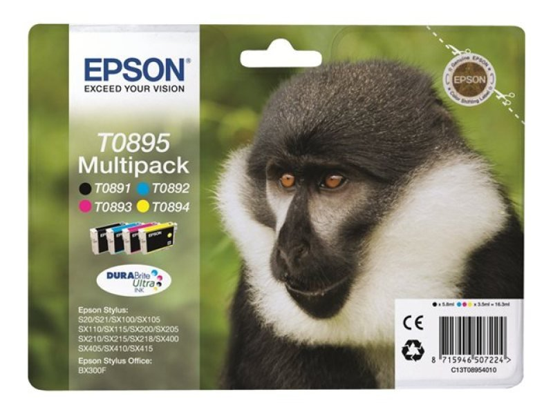 Epson T0895 Multipack Ink Cartridge