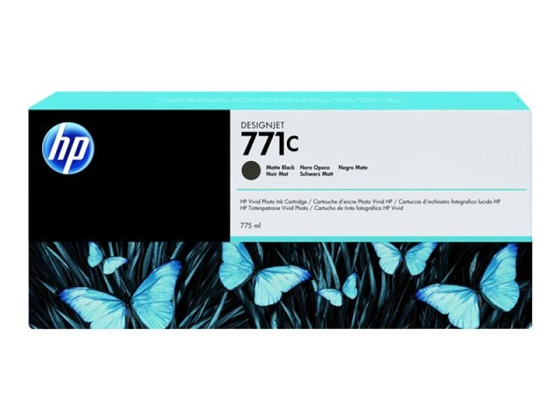 HP 711C Matte Black Original Ink Cartridge - Standard Yield 775m - B6Y07A