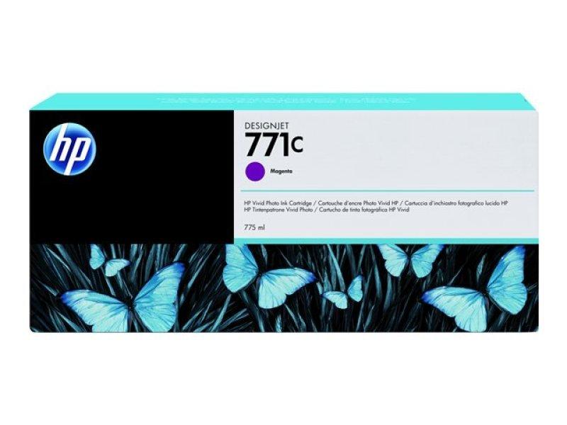 HP 771 Magenta Original, Multi-pack Ink Cartridge - Standard Yield 775ml - B6Y09A
