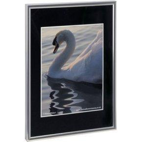 Photoalb A4 Cert Frame Back Loader Silv