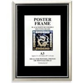 Photoalb A4 Cert Frame Silv/blk Pstripe