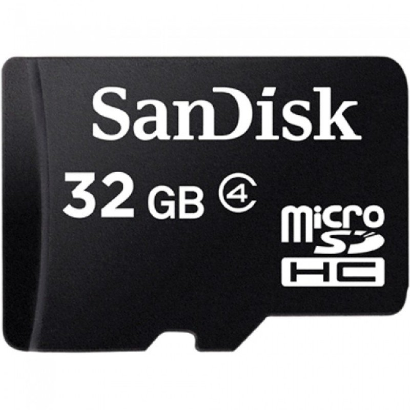 SanDisk 32GB Class 4 MicroSD with microSDHC to SD Adapter
