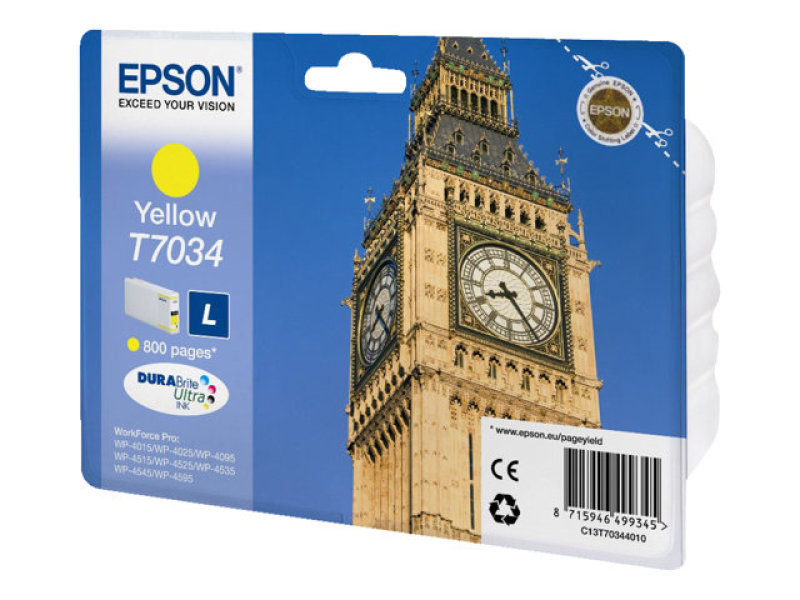 *Epson T7034 Ink Cartridge L Yellow