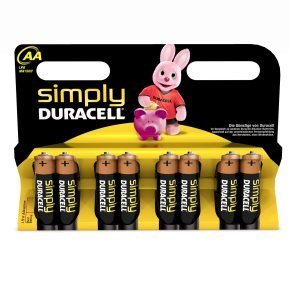 Duracell Simply AA Alkaline Batteries - 8 Pack