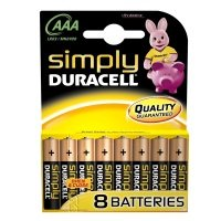 Duracell Simply AAA Alkaline Batteries - 8 Pack