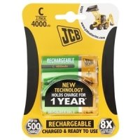 JCB C Rechargeable Batteries - 2 Pack