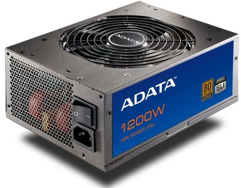 Adata HM series 1200W 80 plus Bronze PSU - 8x SATA 8x PCI-E