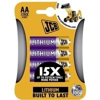 JCB Lithium AA Batteries - 4 Pack