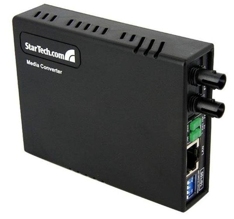 StarTech.com 10/100 Multi Mode Fiber Copper Fast Ethernet Media Converter ST 2 km - UTP to 100Base-Fx - Fiber Optic Media Converter MM