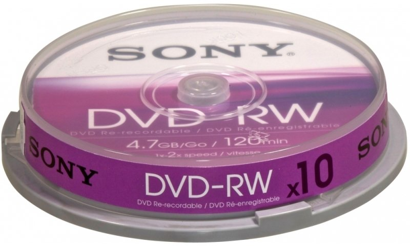 Sony 2x DVD-RW 4.7GB 10 Pack Spindle