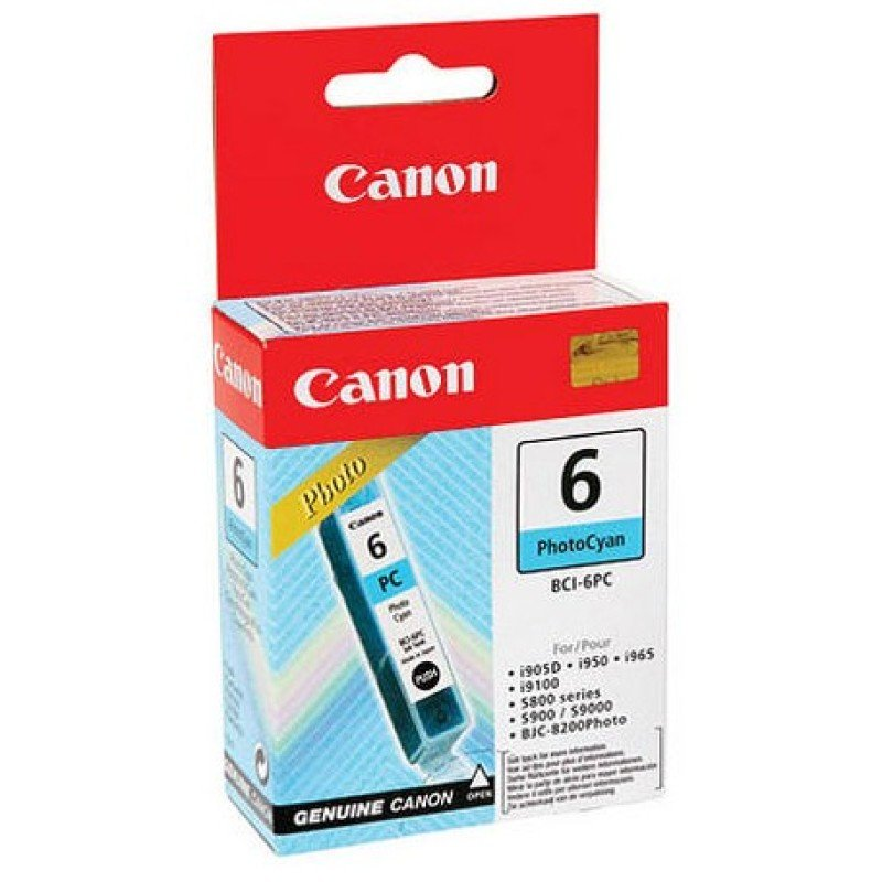 Canon BCI-6PC Ink Cartridge Photo Cyan for the BJC-8200