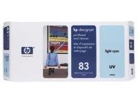 HP 83 Light Cyan OriginalUV Ink Cartridge - Standard Yield 680ml - C4944A
