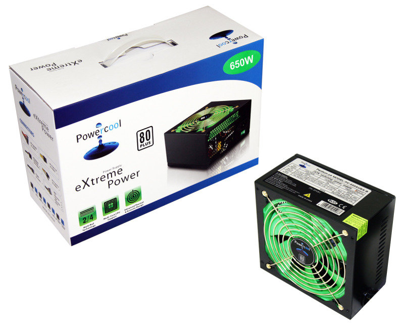 PowerCool 650W Fully Wired 80+ Power Supply