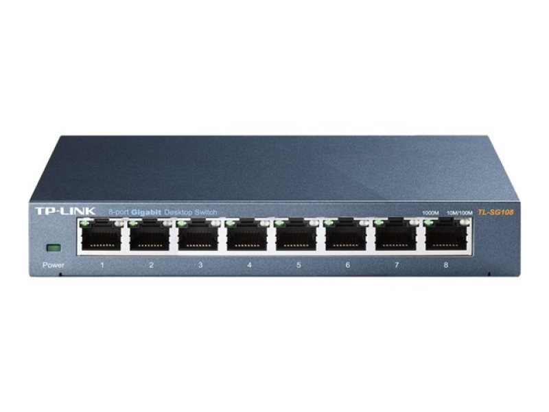TP-Link TL-SG108 8-port Gigabit Desktop Switch Steel Case