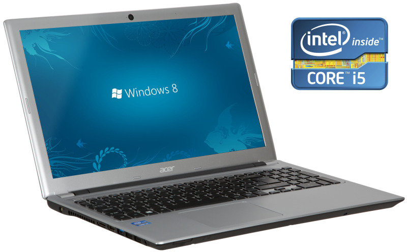 Acer Aspire V5571 Laptop Intel Core i53317U 1.7GHz 6GB RAM 750GB HDD 15.6&quot TFT DVDRW Intel HD Webcam Bluetooth Windows 8 64bit