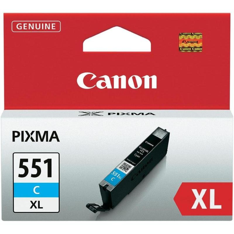 Canon CLI-551C XL Cyan Ink Cartridge - 665 Pages - 6444B001