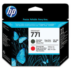 HP 771 Matte Black & Chromatic Red Print Head - CE017A
