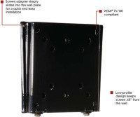 """Flat-to-wall Mount For LCD Screens 10"""" - 24"""""""
