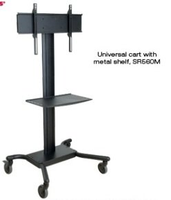 "LCD/Plasma Trolley with Metal Shelf - 32"" - 60"" screens"