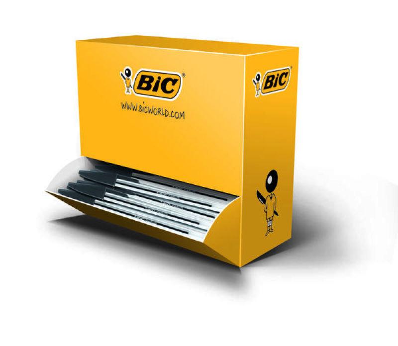 Bic Cristal Medium Ballpoint Black Pen (Pack of 100)