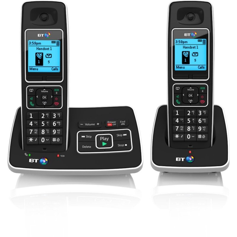 Image of BT 6500 Cordless DECT Phone with Answer Machine and Nuisance Call Blocking (Pack of 2)