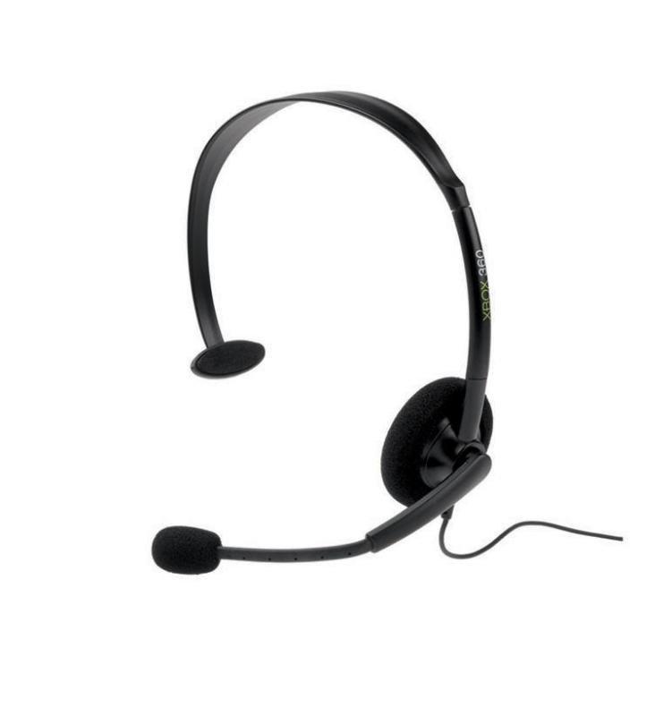 Microsoft Xbox 360 Headset  Headset (Semiopen)  Black