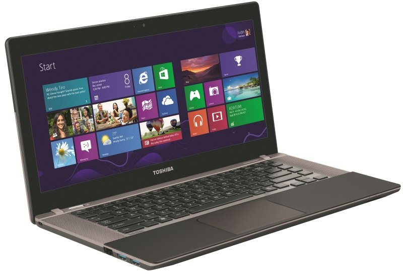 Toshiba Satellite U840W10J Ultrabook Intel Core i53317U 1.7GHz 6GB RAM 500GB HDD 32GB SSD 14.4&quot TFT NOOPT Intel HD Webcam Bluetooth Windows 8 64bit