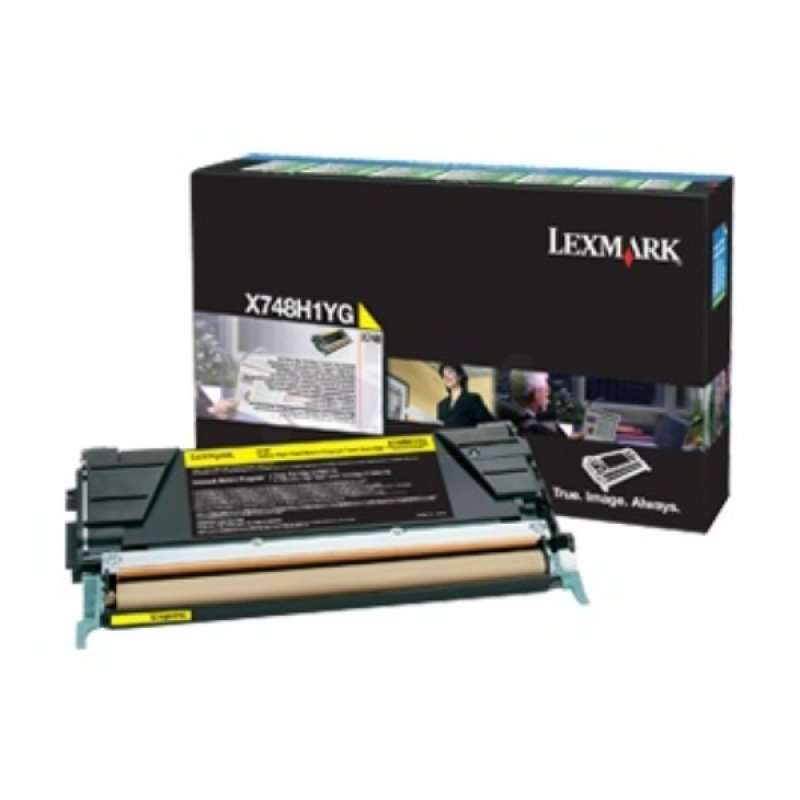 Lexmark X748H3YG Yellow High Yield Toner Cartridge