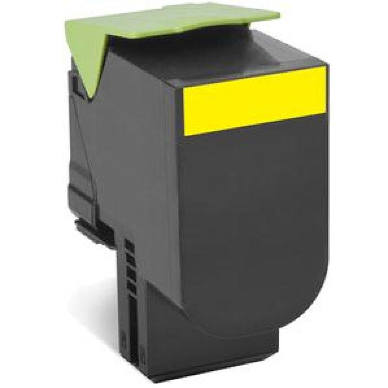 Lexmark 802HYE Yellow High Yield Toner Cartridge