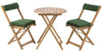 Wooden Bistro Set Table and 2 Chairs