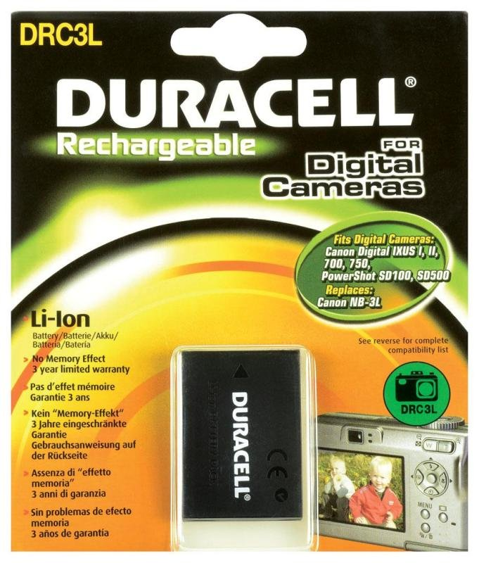 Image of Drc3l Duracell Replacement Camera Battery