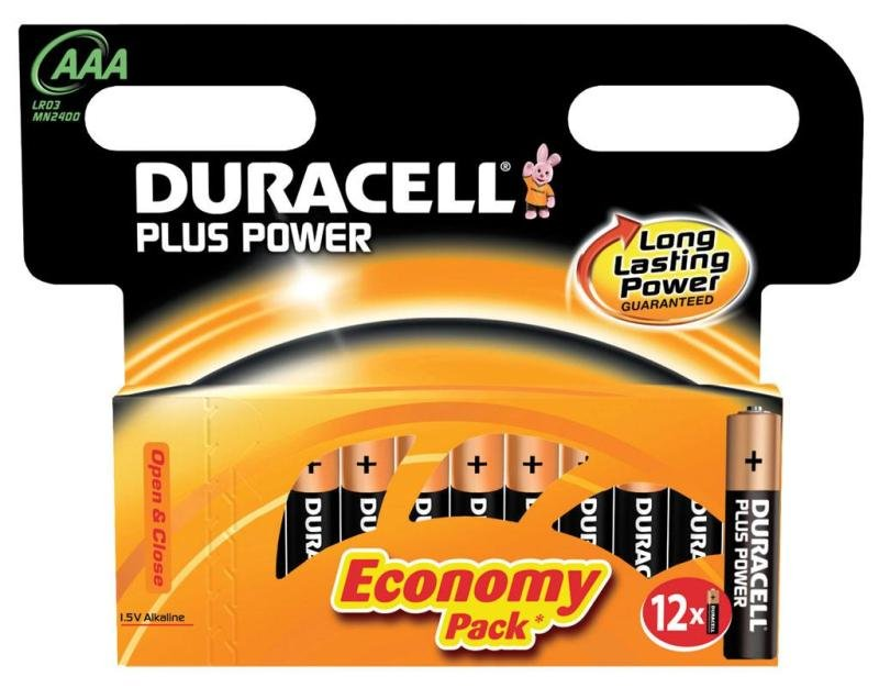 Duracell Plus Power AAA Batteries
