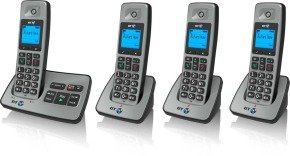 BT 2500 Cordless DECT Phone with Answer Machine  - Quad Pack