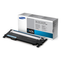 Samsung CLT-C406S Cyan Toner Cartridge - 1,000 Pages