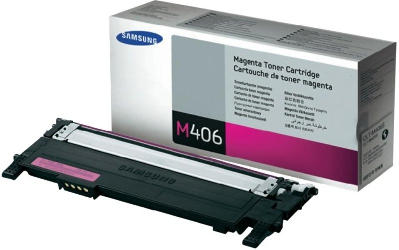 Samsung CLT-M406S Magenta Toner Cartridge - 1,000 Pages
