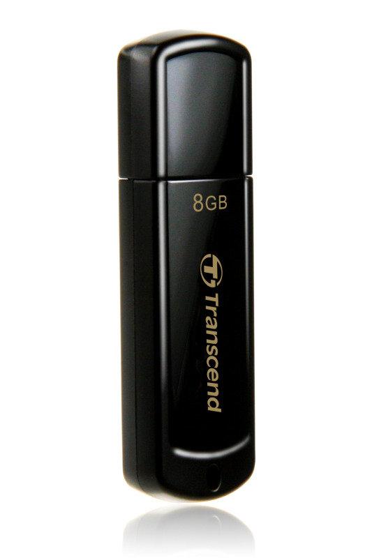 Transcend Jetflash 350 (8GB) USB 2.0 Flash Drive (black)