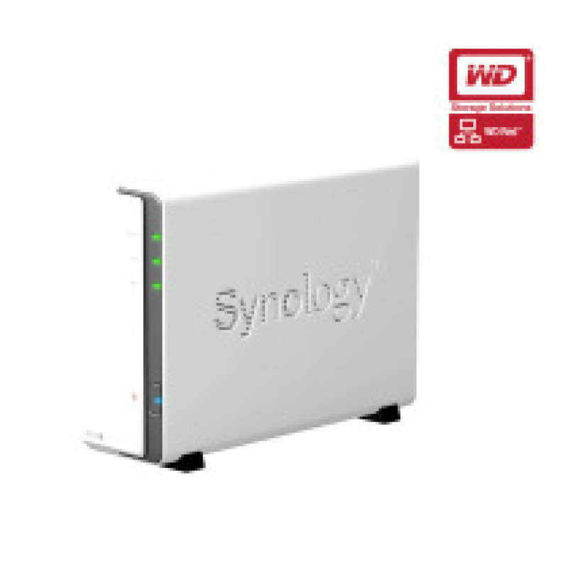 Synology DS112J 2TB (WD Red HDD) 1 Bay Desktop NAS