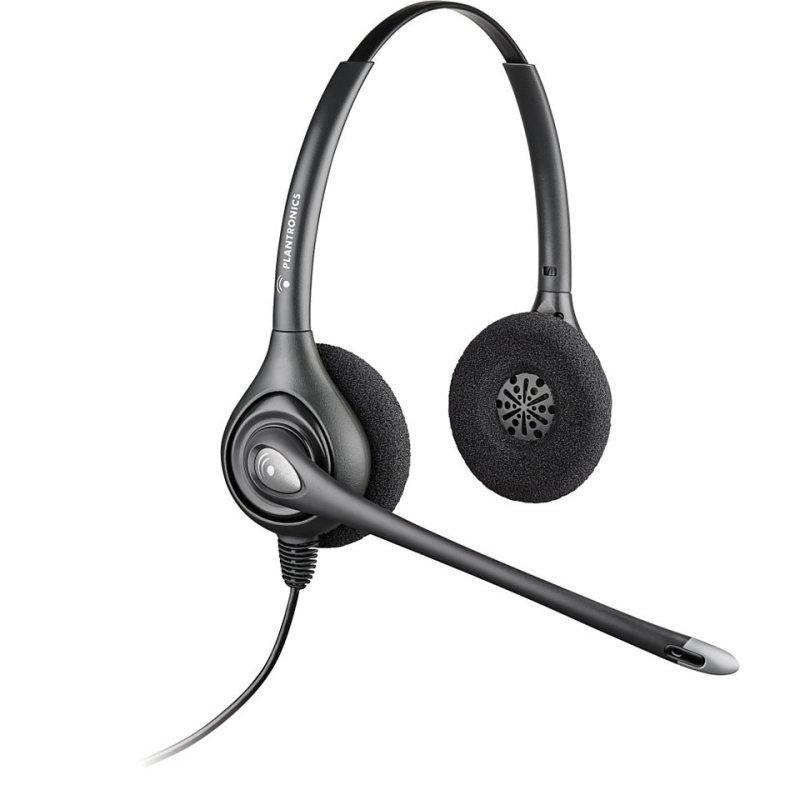 Plantronics HW361NA Binaural Supraplus Corded Headset  Silver