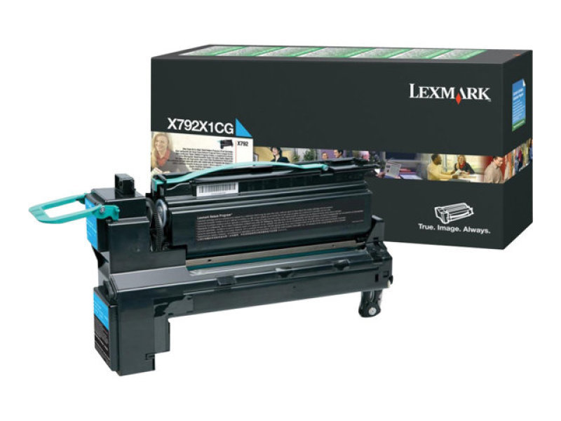 Lexmark Extra High Yield Cyan Toner Cartridge - X792X1CG