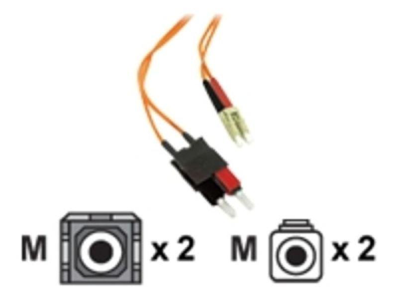 C2G, LC/SC LSZH Duplex 62.5/125 Multimode Fibre Patch Cable, 1m